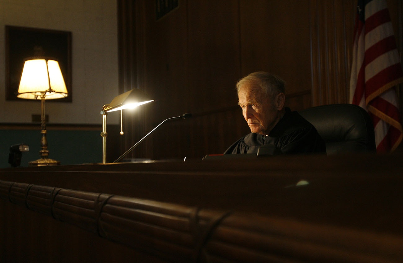The late Judge John T. Curtin, in his courtroom at the Federal Courthouse in Buffalo. His funeral is Saturday. (Derek Gee/The Buffalo News)