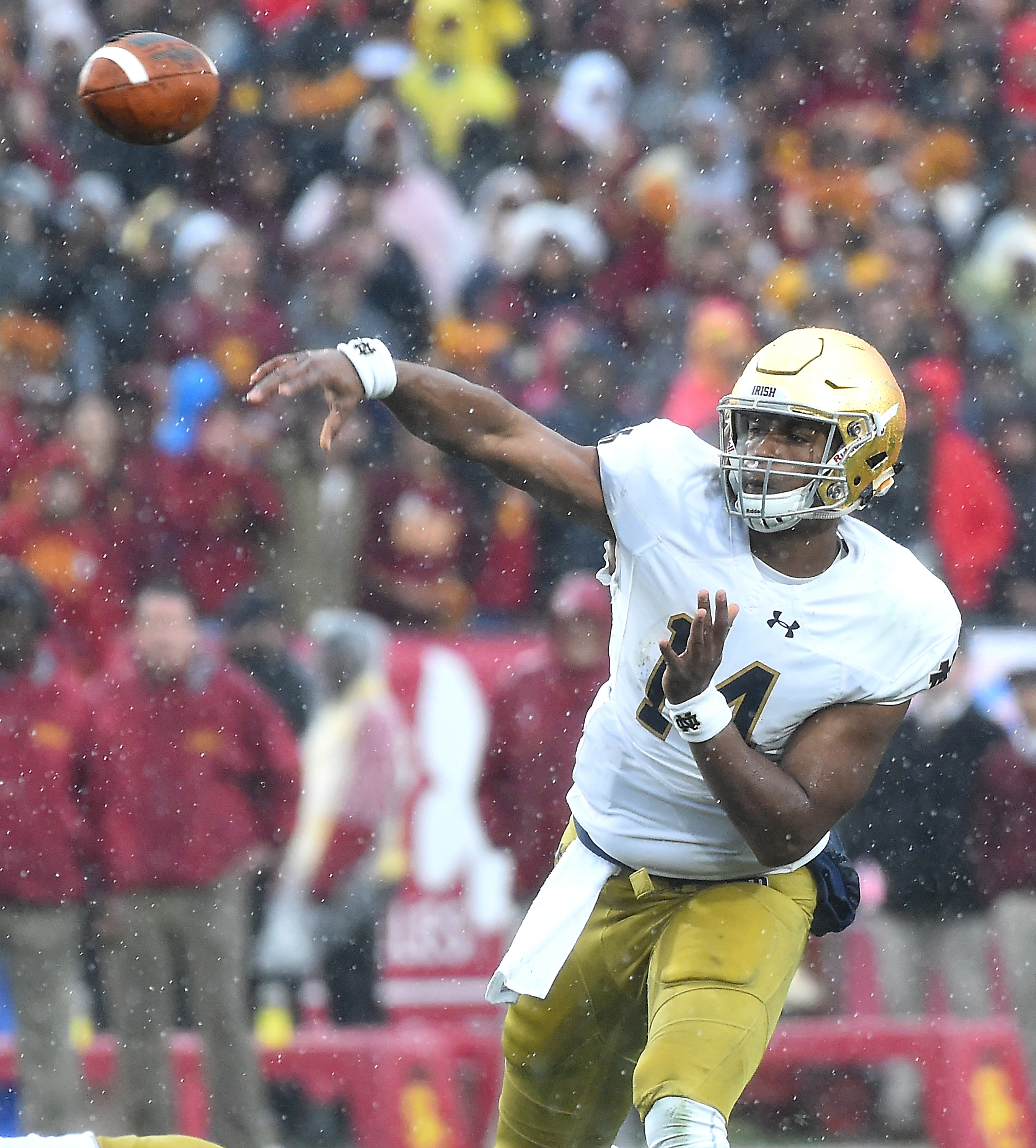 DeShone Kizer of the Notre Dame Fighting Irish. (Photo by Jayne Kamin-Oncea/Getty Images)