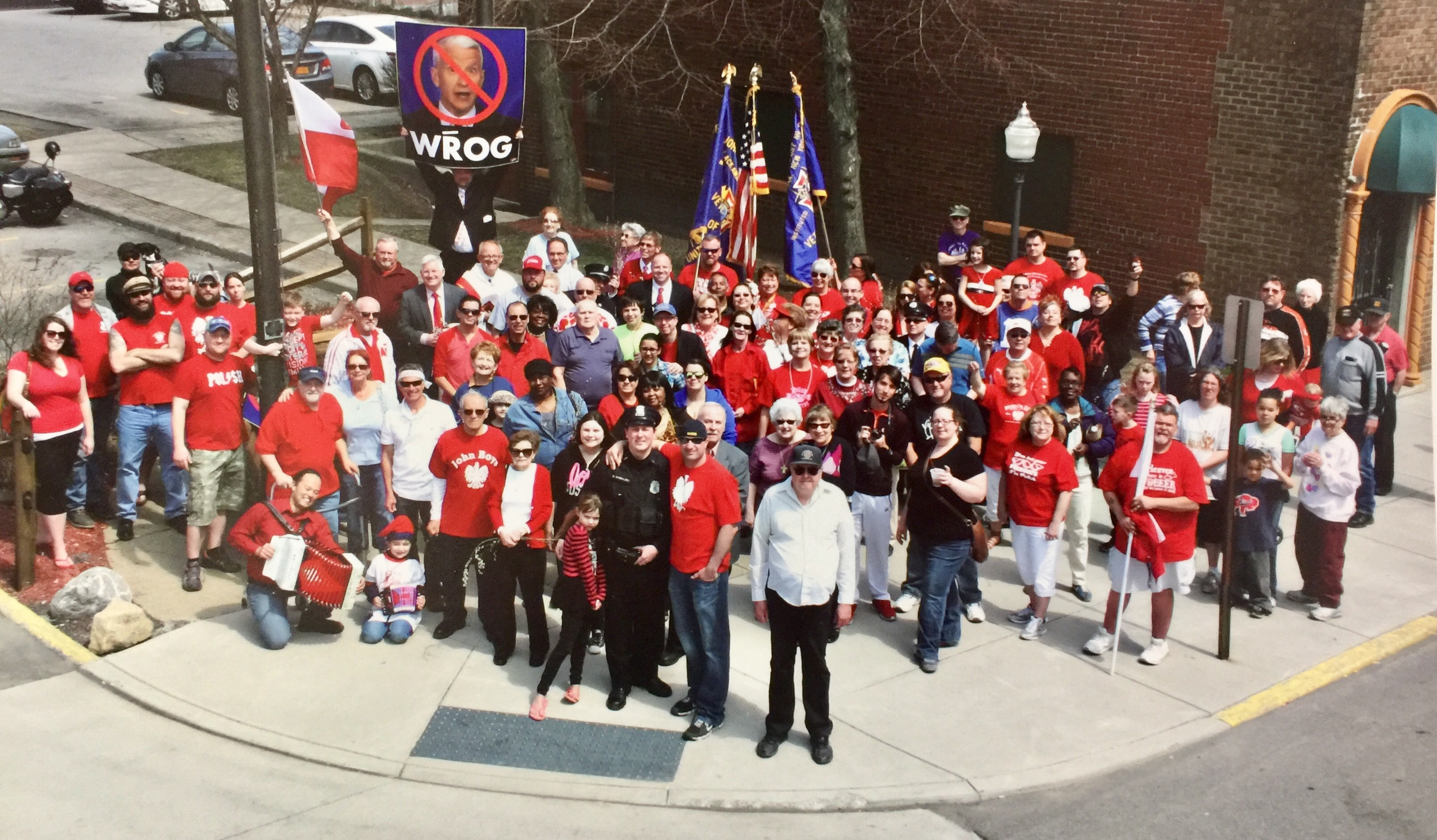 Warm day in Lackawanna marks  Shortest Dyngus Day Parade. Photo by Richard Sterling.