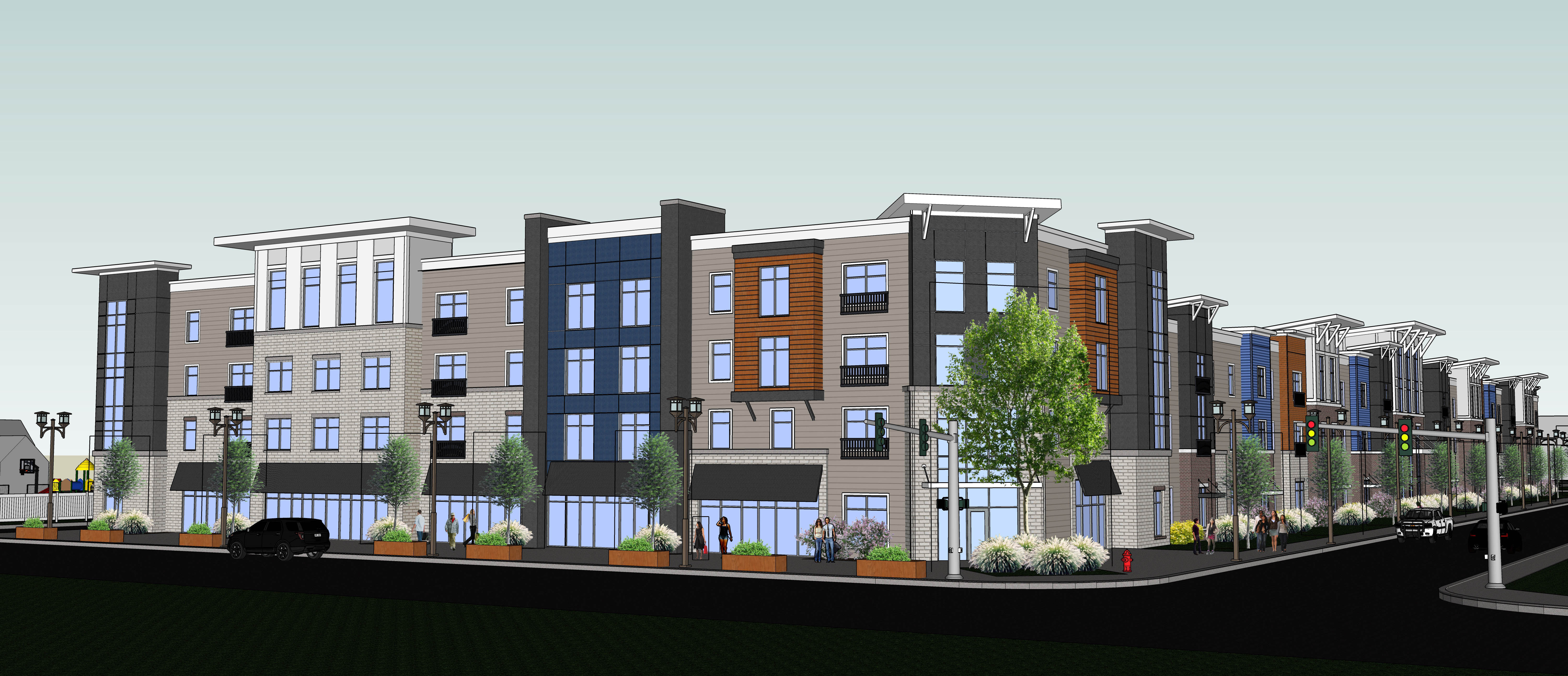 Artist's rendering of the proposed  Forge on Broadway development at Broadway and Mortimer Street.