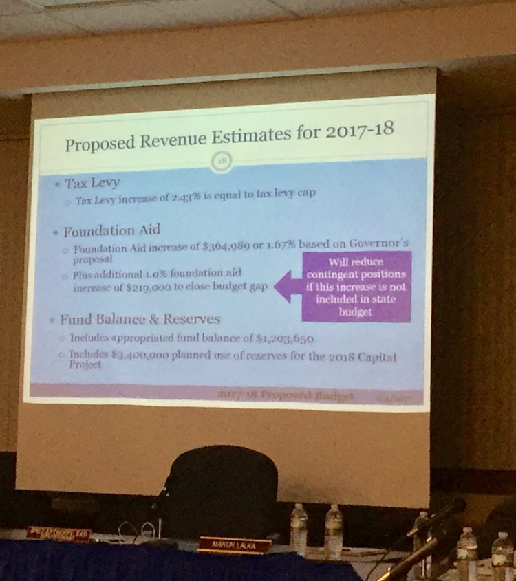 Frontier Central School District's proposed budget depends on state aid. (Barbara O'Brien/Buffalo News)