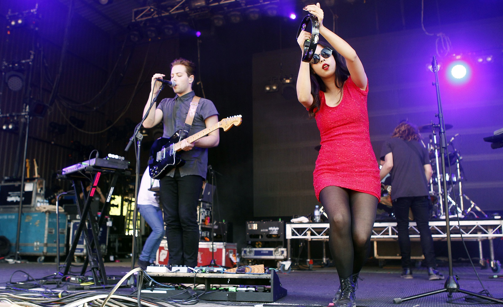Thom Powers and Alisa Xayalith of The Naked And Famous, pictured performing in the Falls Music Festival in 2011 in Australia, have planned a Buffalo stop. (Getty Images)