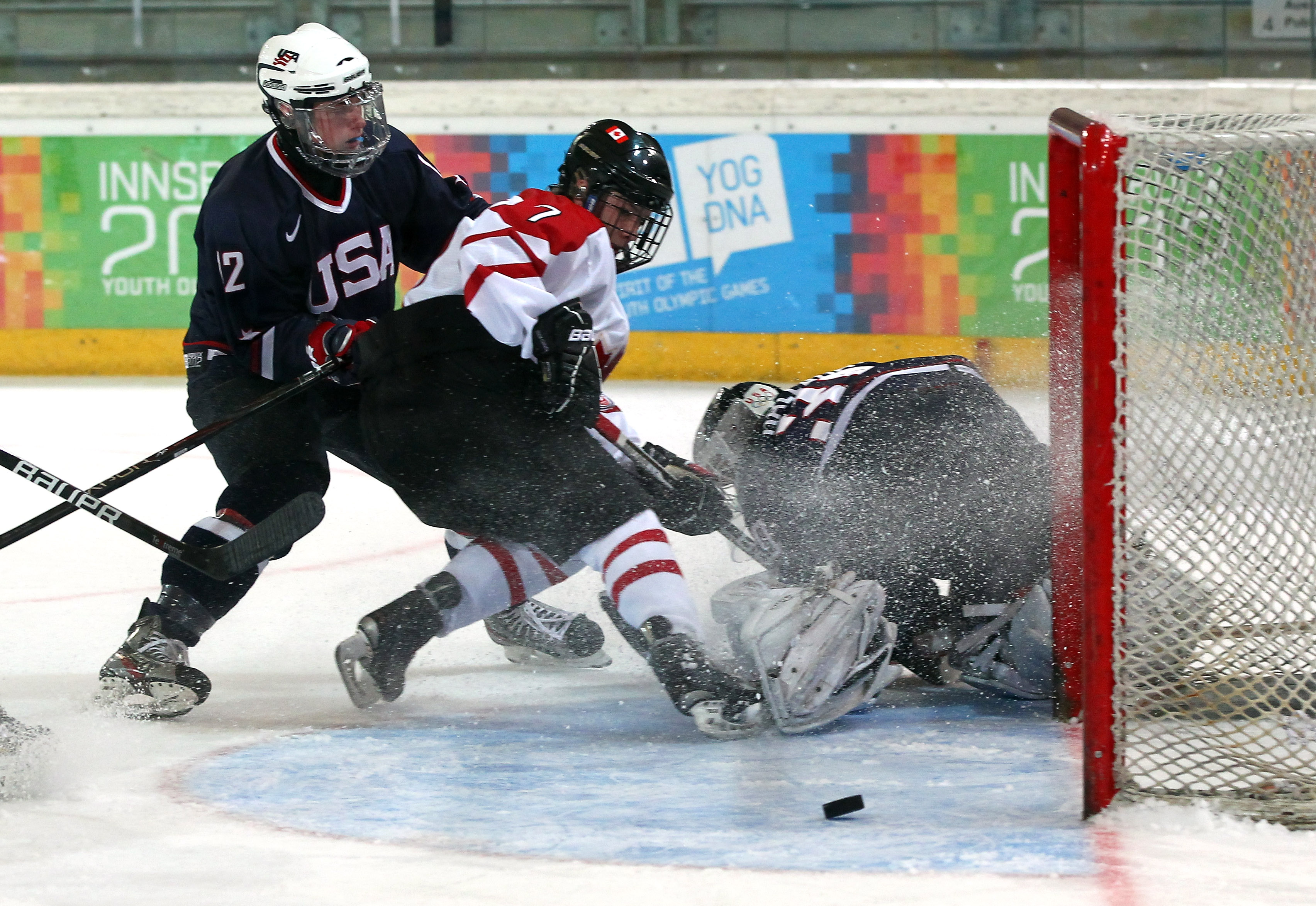 Jack Eichel (12) in the 2012 Youth Olympic Games. (Getty Images)