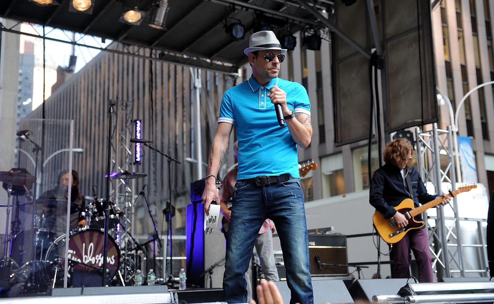 Robin Wilson, front, is the lead singer of the Gin Blossoms, who play Saturday just over the Canadian border. (Getty Images)