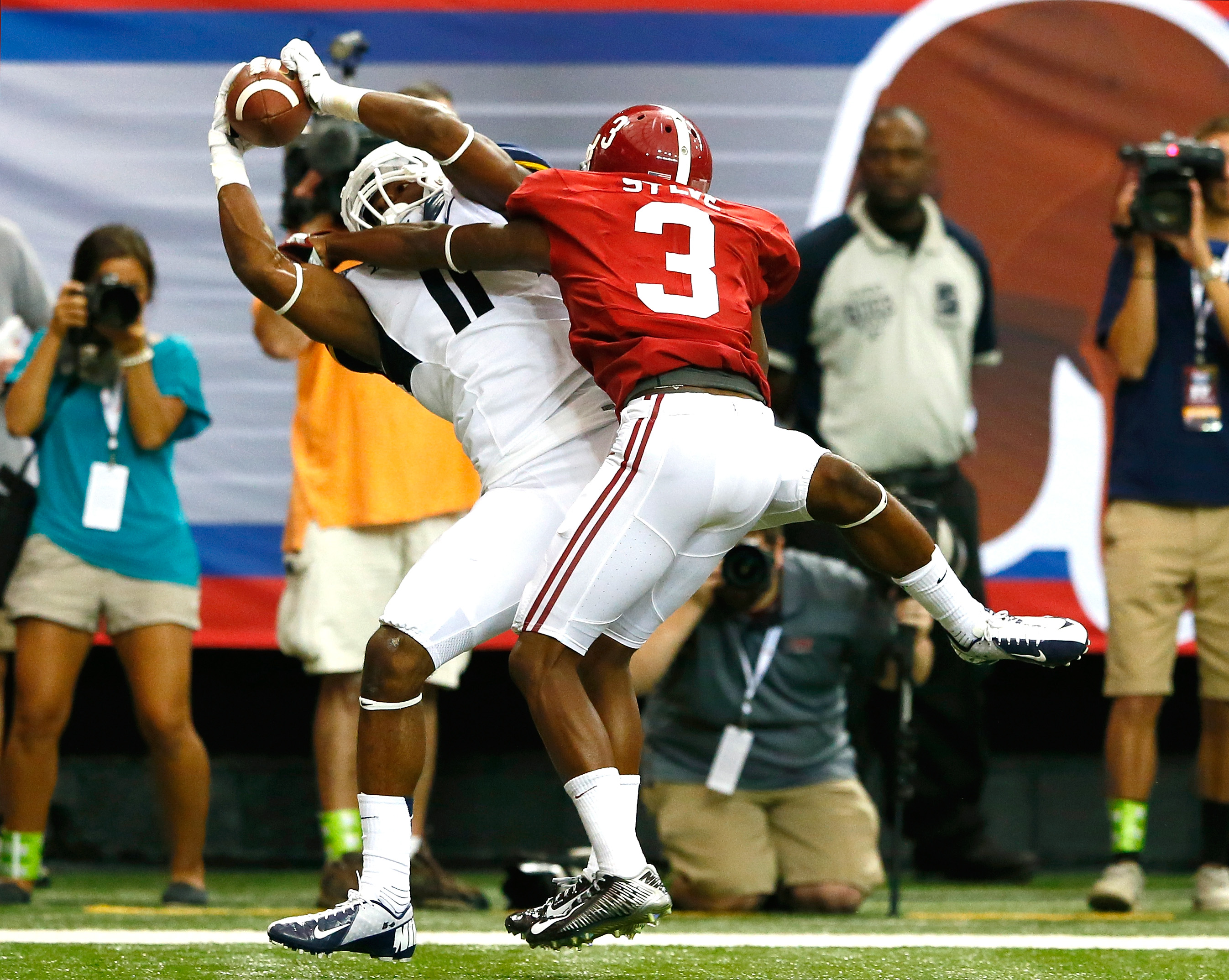 Former Alabama cornerback Bradley Sylve (3) missed all of last season after suffering an injury at the Crimson Tide's Pro Day. (Getty Images)