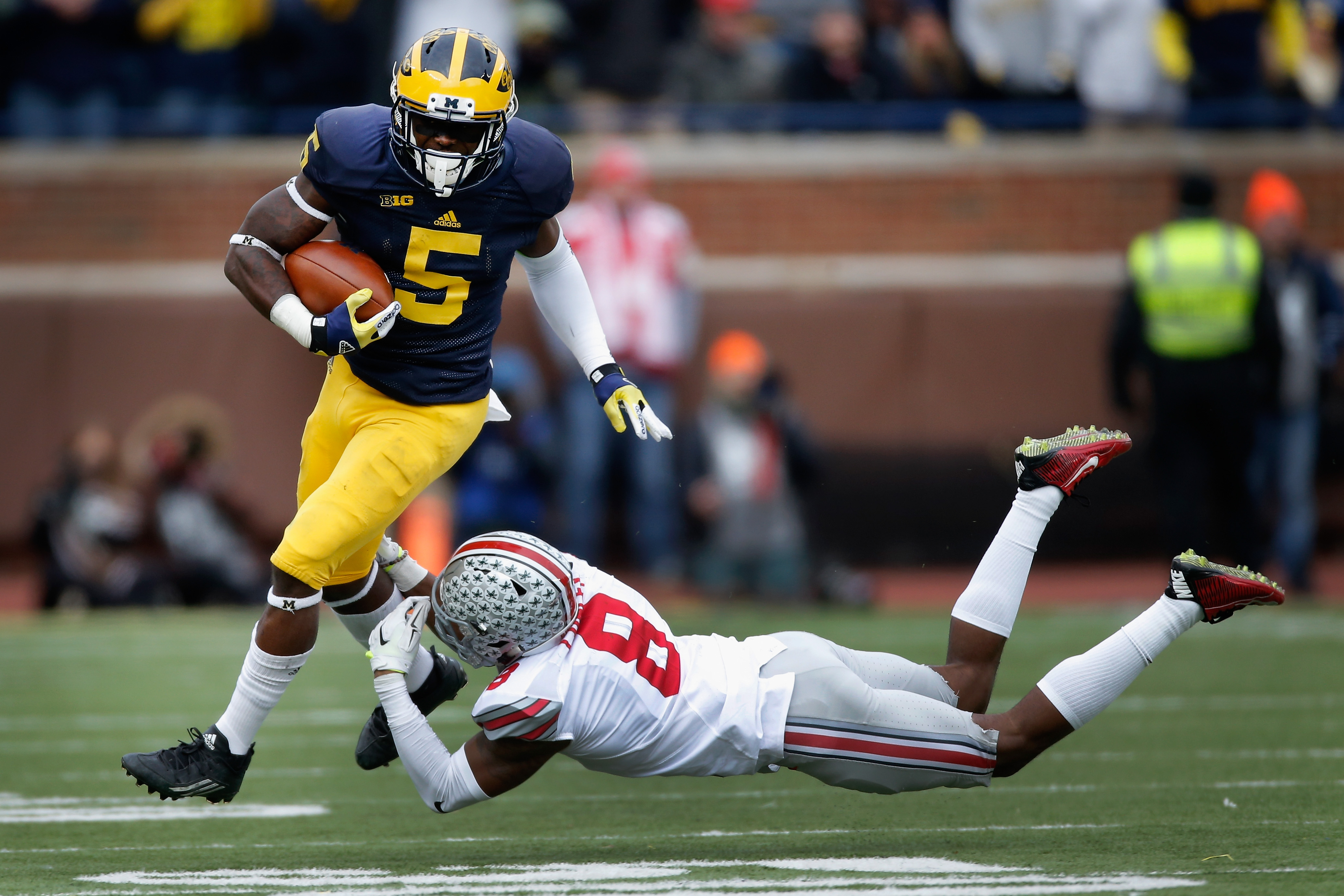 Jabrill Peppers is one of the most versatile players in the 2017 draft class. (Getty Images)