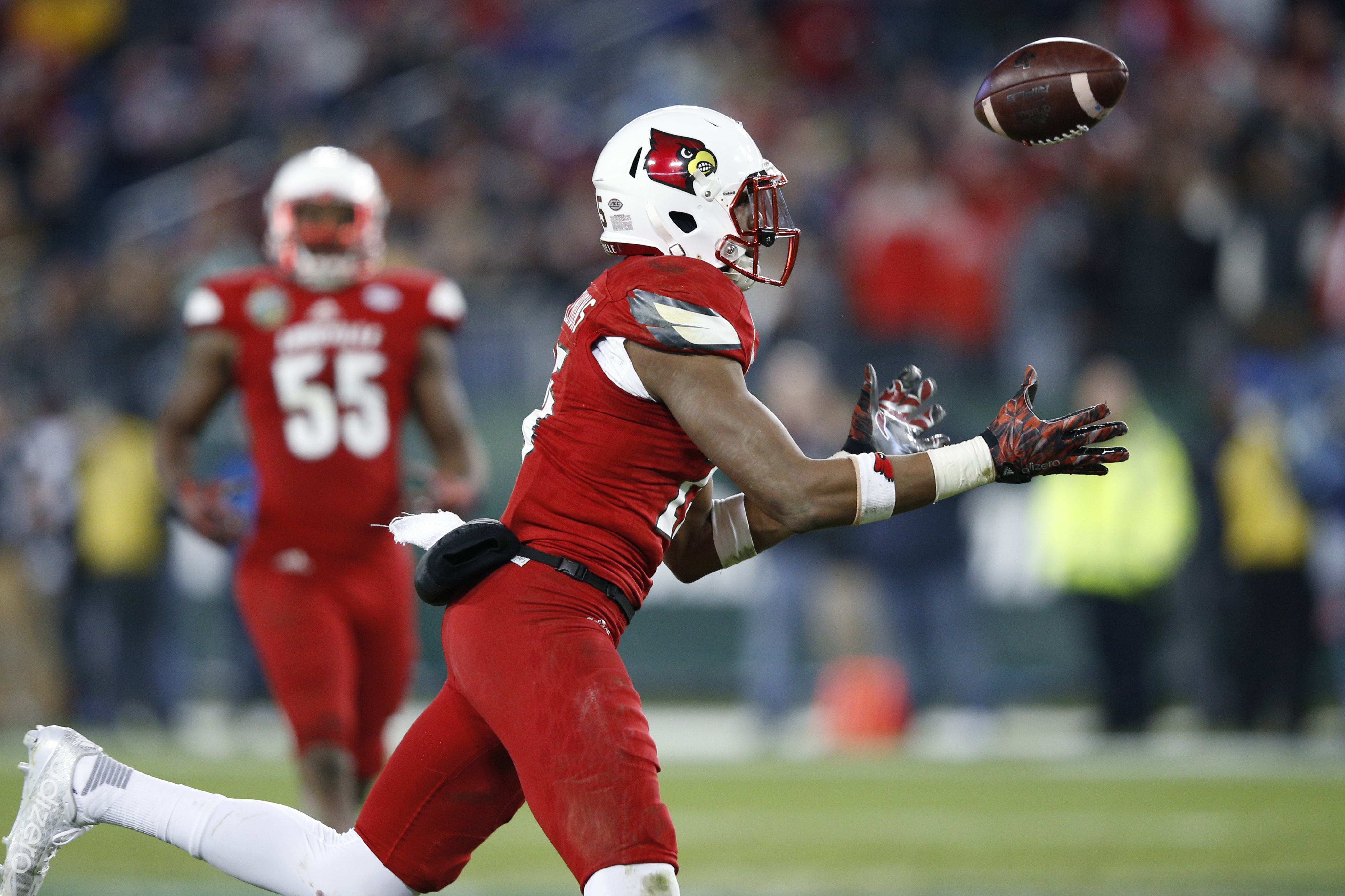 Louisville safety Josh Harvey-Clemons transferred after failing two drug tests at Georgia. (Getty Images)