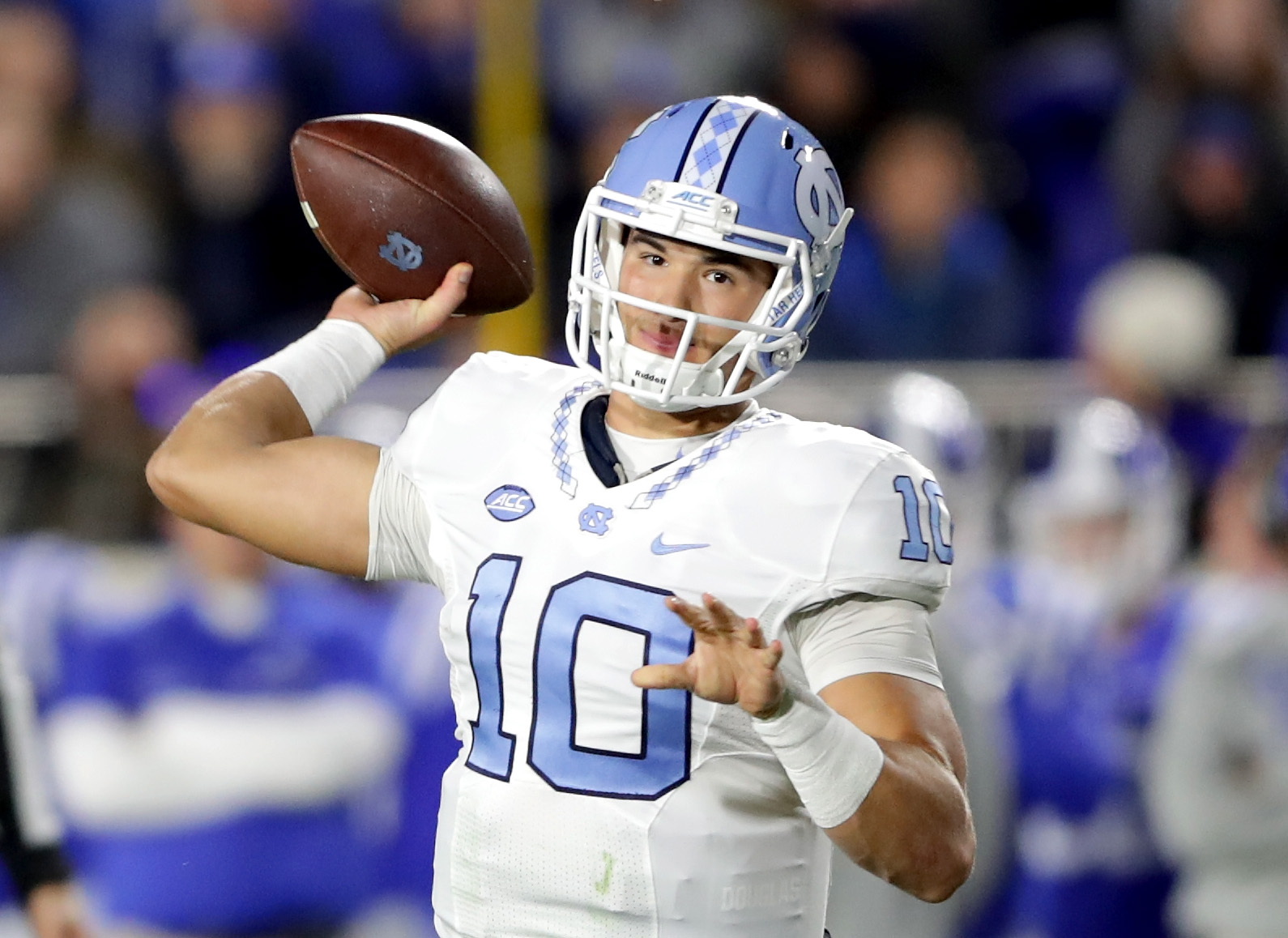 The Bills took a closer look at North Carolina quarterback Mitchell Trubisky during a private workout.  (Photo by Streeter Lecka/Getty Images)