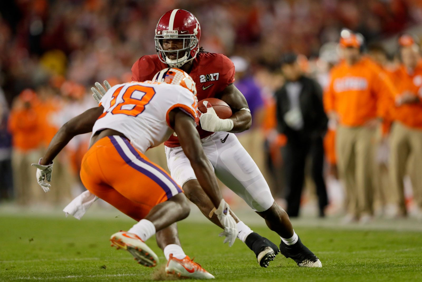 Clemson safety Jadar Johnson (18) was part of the Tigers' national championship in January. (Getty Images)
