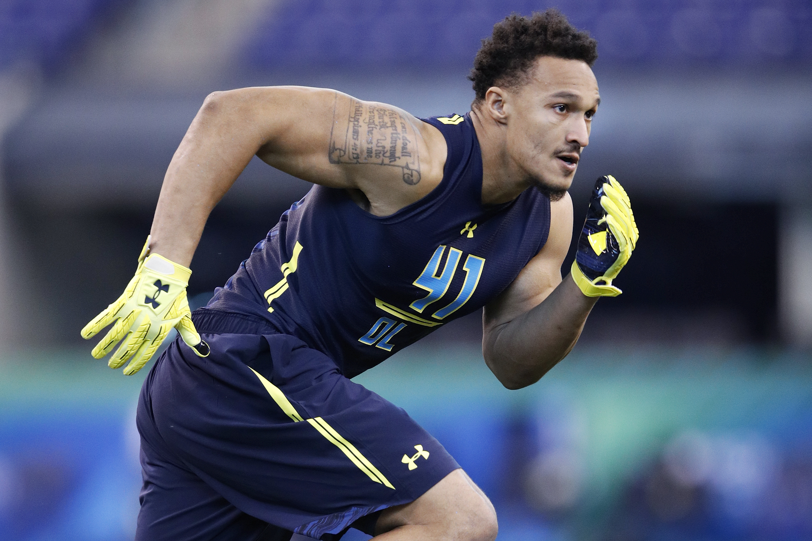 Derek Rivers' 14 sacks ranked second in the nation in 2016. (Getty Images)