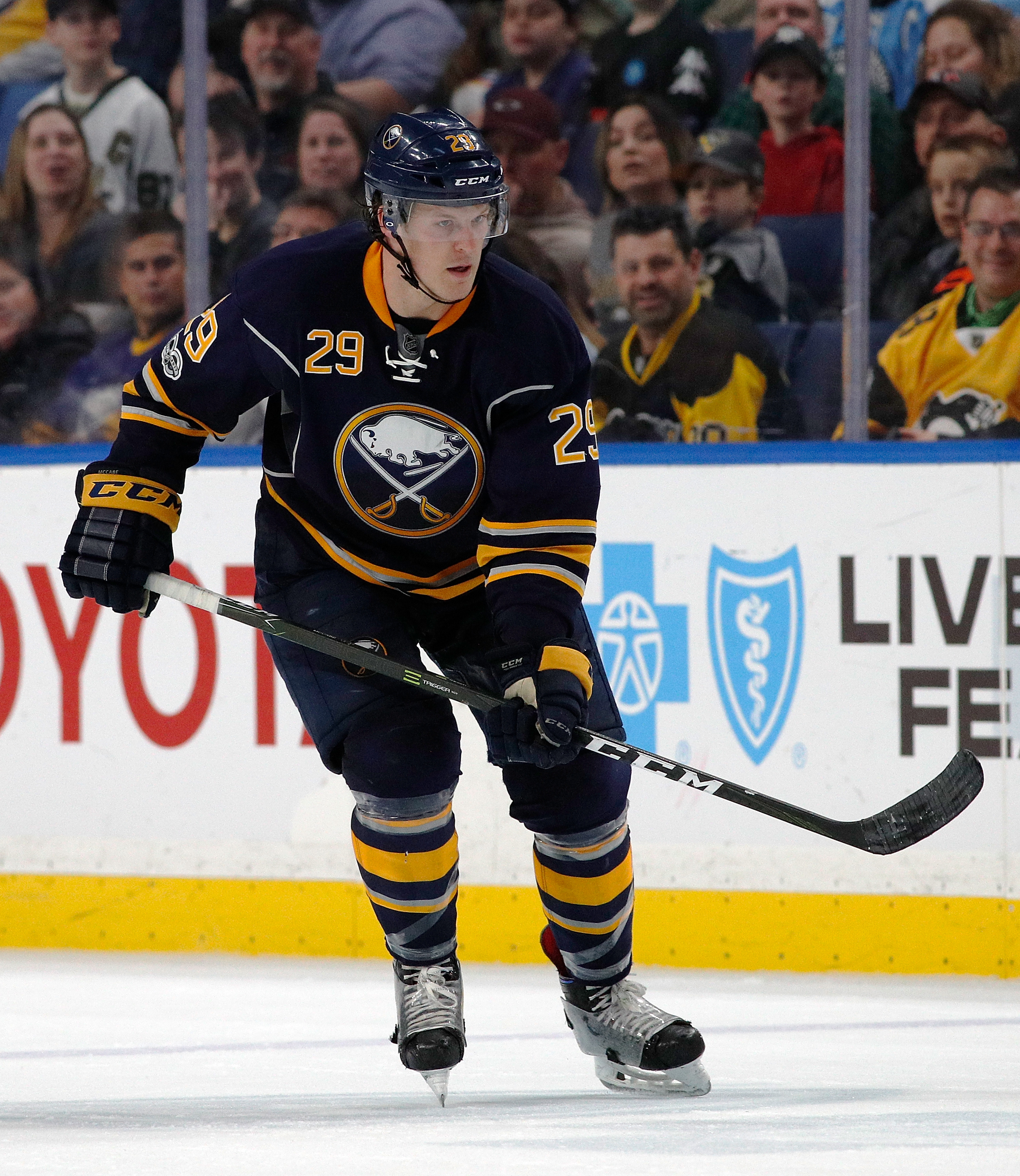 Jake McCabe knows he needs to perform for the Sabres. (Getty Images)