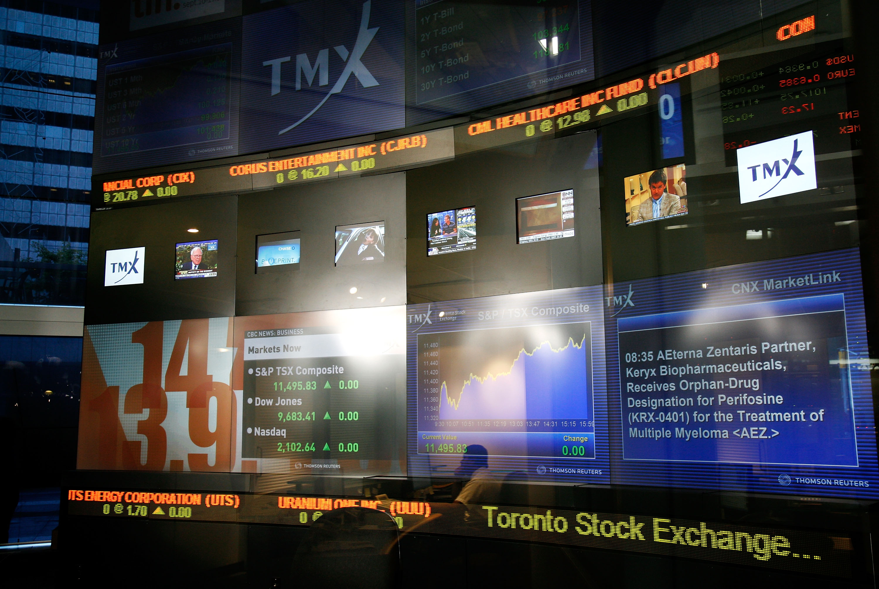 The Toronto Stock Exchange (Getty Images file photo)