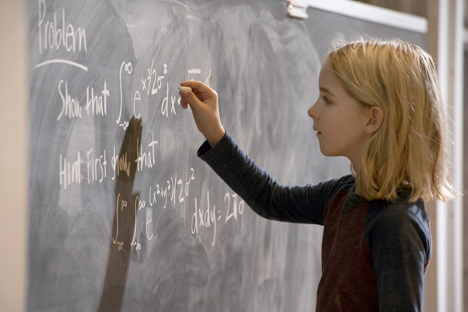 Ten-year-old Mckenna Grace is an actress who plays a math genius in the 'Gifted.' (Wilson Webb, Fox Searchlight)