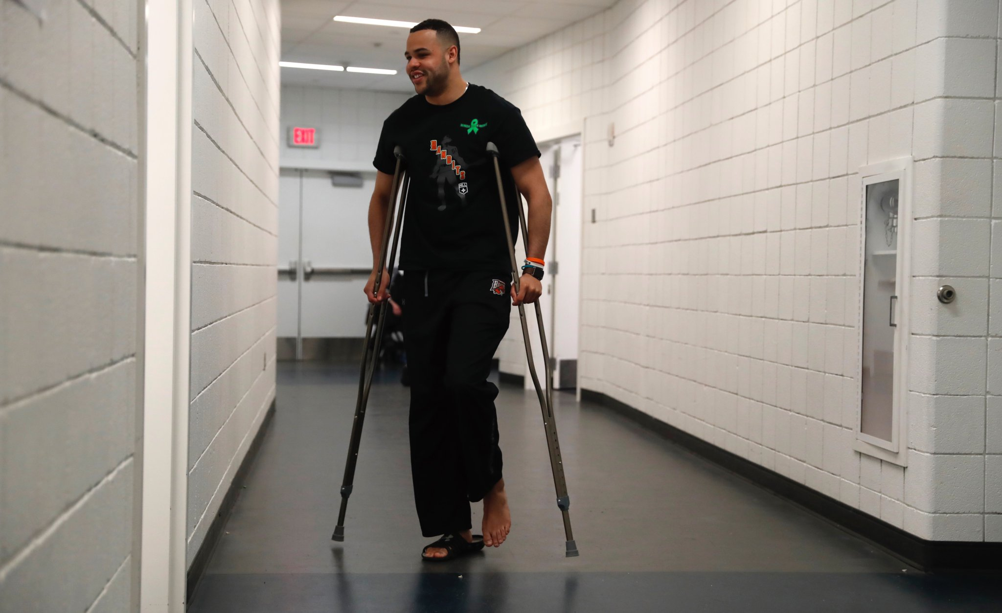 Dhane Smith was out of the lineup for the Bandits Saturday night with a lower body injury. (Photo by Harry Scull Jr. / Buffalo News)
