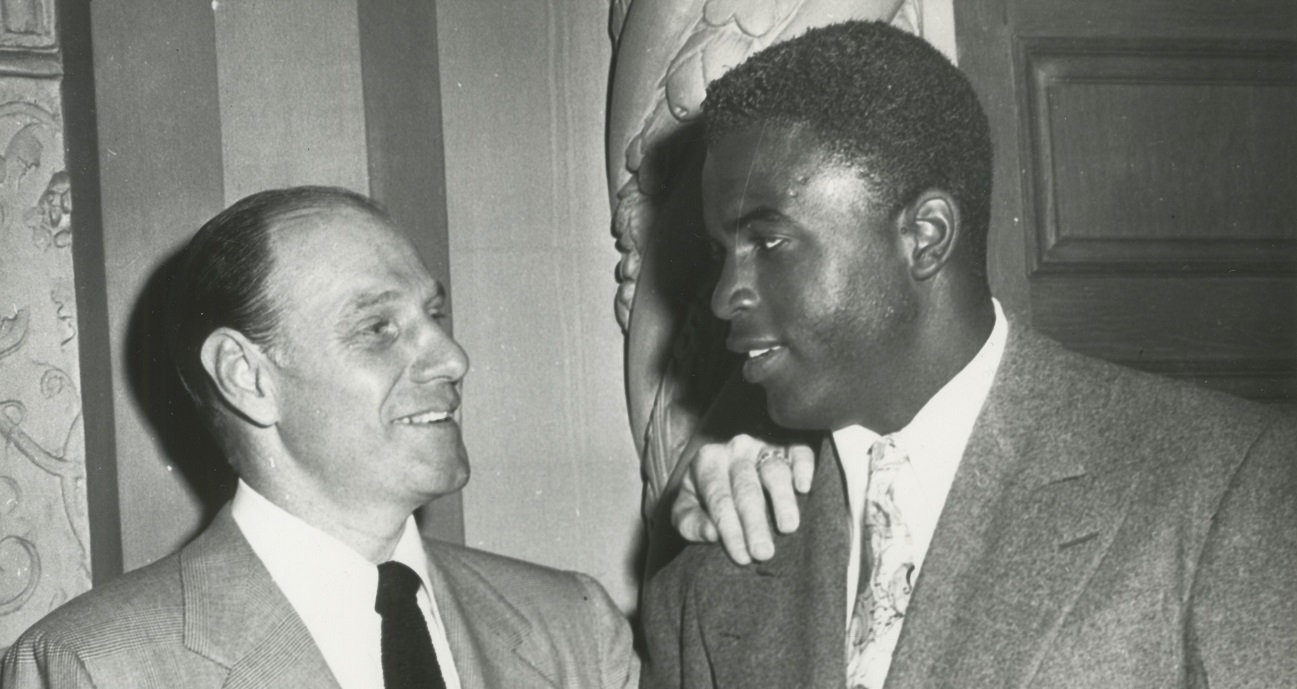 Leo Durocher and Jackie Robinson (News file photo)