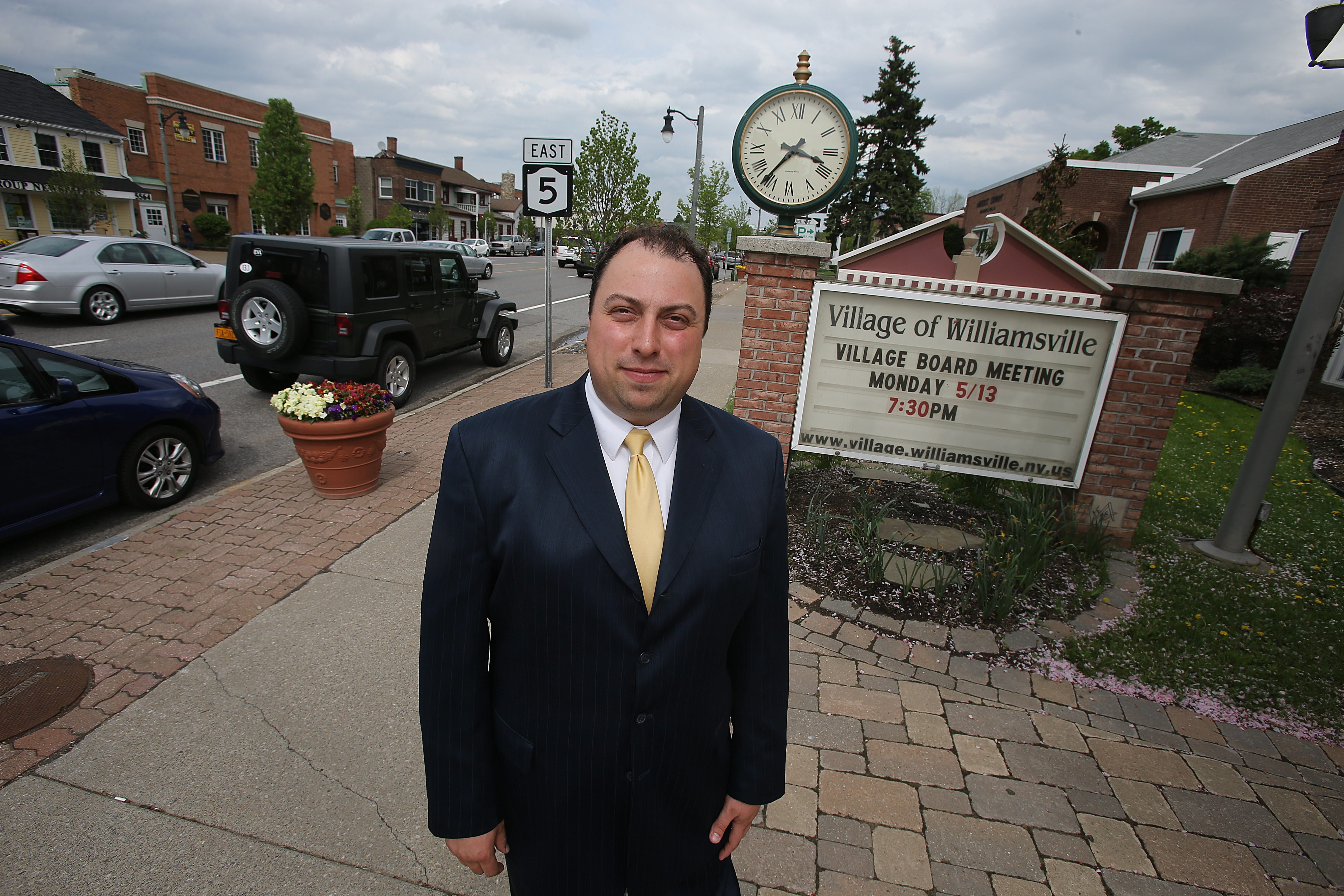Village of Williamsville Mayor Brian Kulpa,, shown in a May 10, 2013 file photo outside the village offices, is organizing an opioid forum in the village.  (Charles Lewis/Buffalo News)