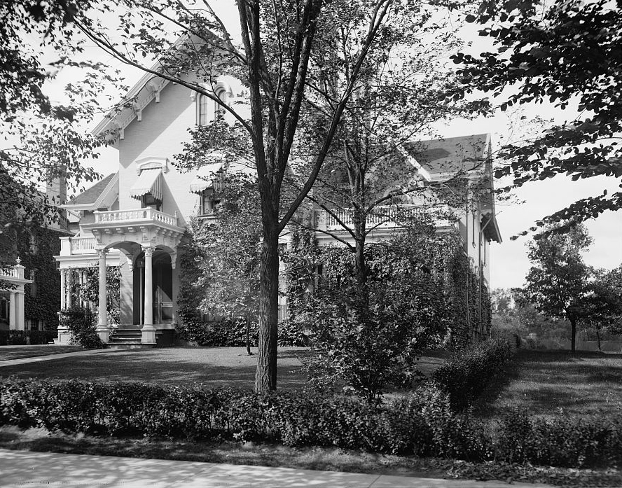 The Milburn House, where a sitting U.S. president –  William McKinley – died in 1901. The house was later demolished. (Library of Congress)