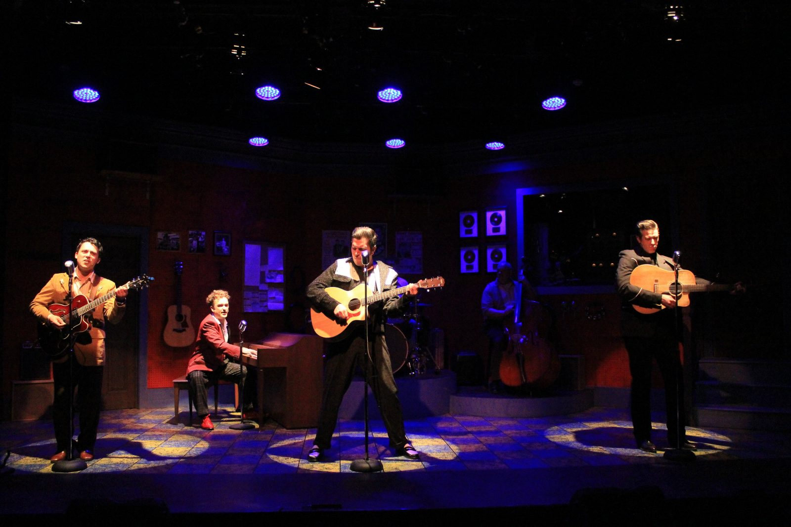 "Brandon Barry, Joseph Donohue III, Andrew J. Reimers and Steve Copps star in MusicalFare Theatre's ""Million Dollar Quartet."""