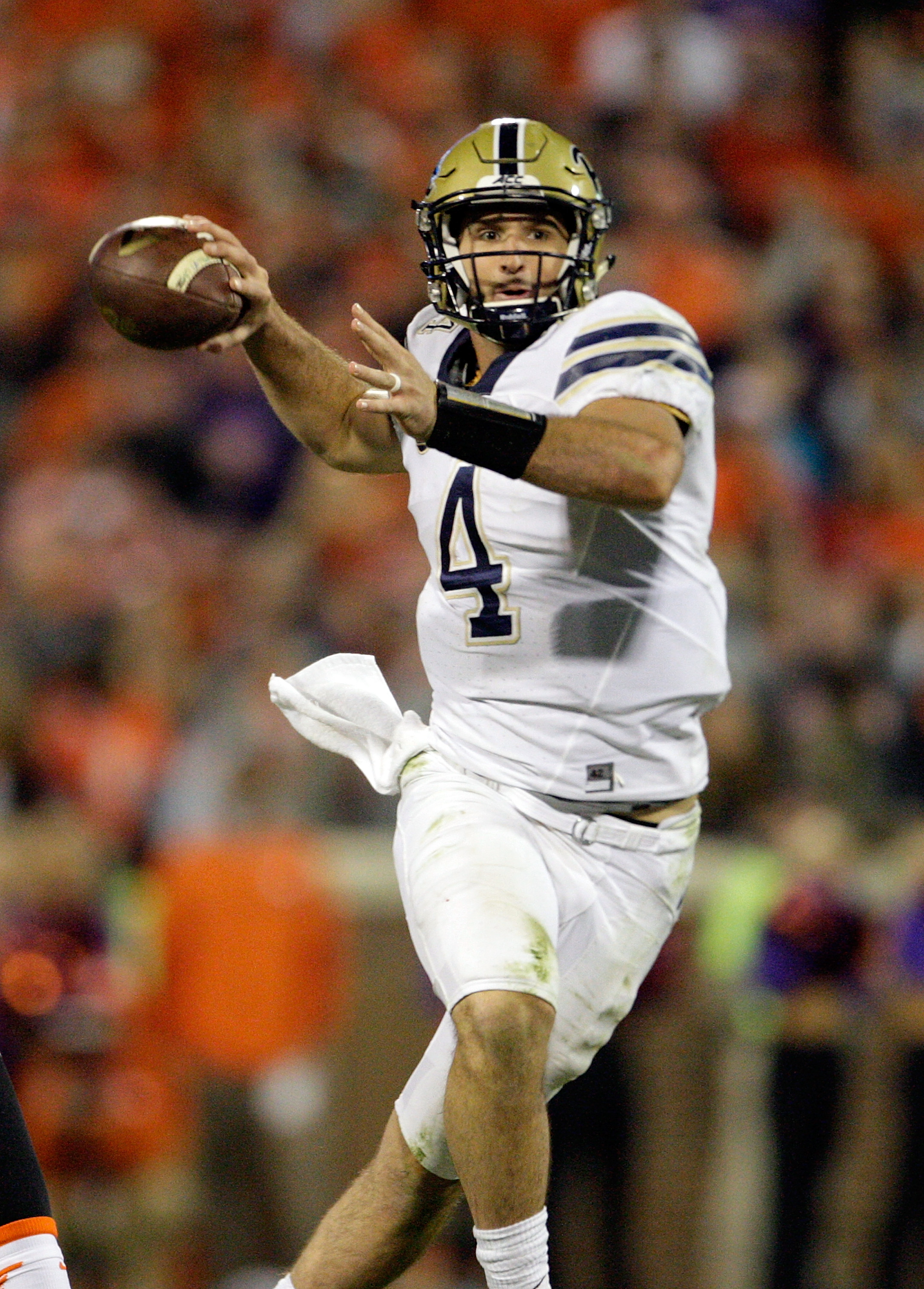 Fifth-round draft pick Nathan Peterman of the Pittsburgh Panthers adds to the Bills' competition at quarterback. (Photo by Tyler Smith/Getty Images)