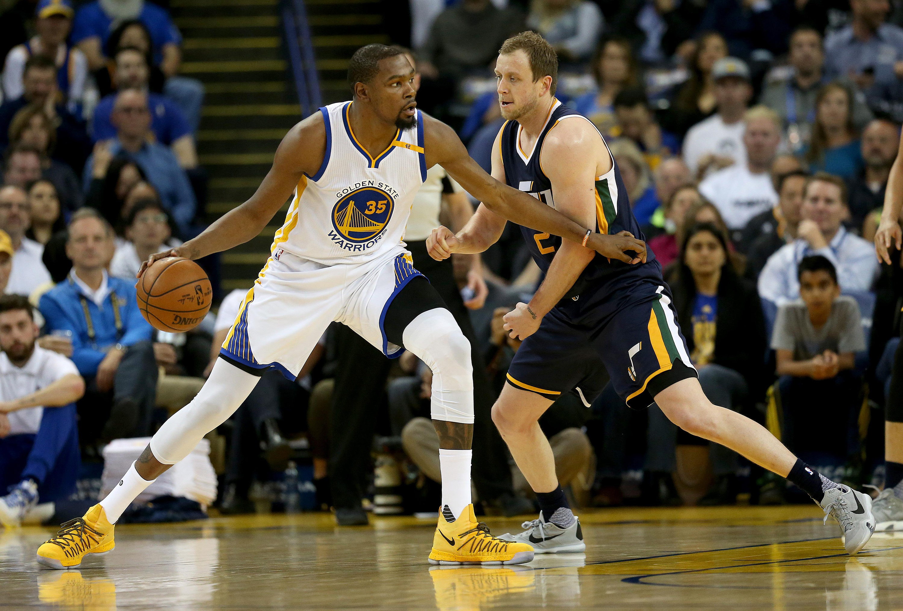 When Kevin Durant was in the Warriors' lineup, they won games by an average of 12-plus points. (Tribune News Service)