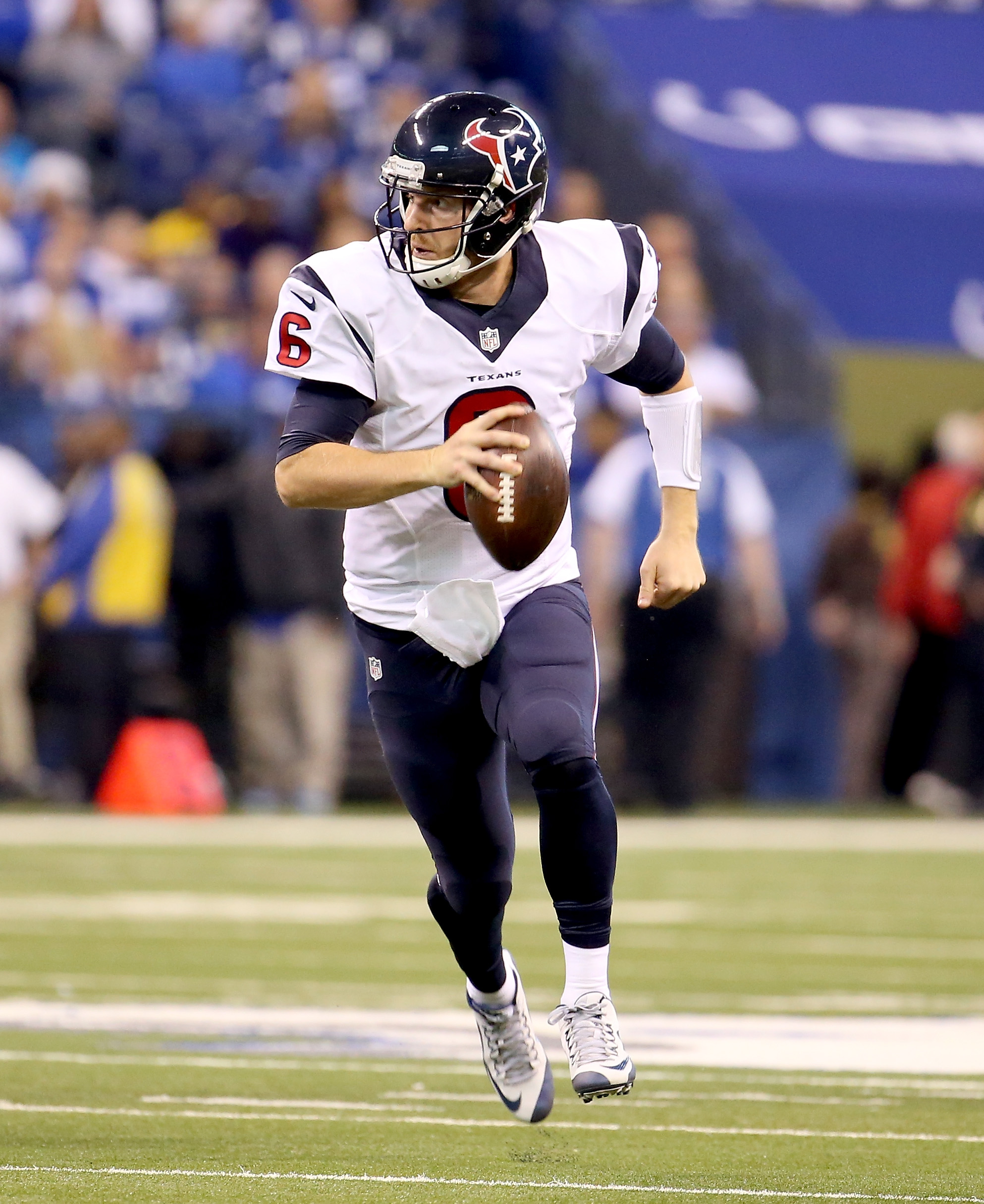 Newly acquired Bills quarterback T.J. Yates in action with the Houston Texans. (Photo by Andy Lyons/Getty Images)