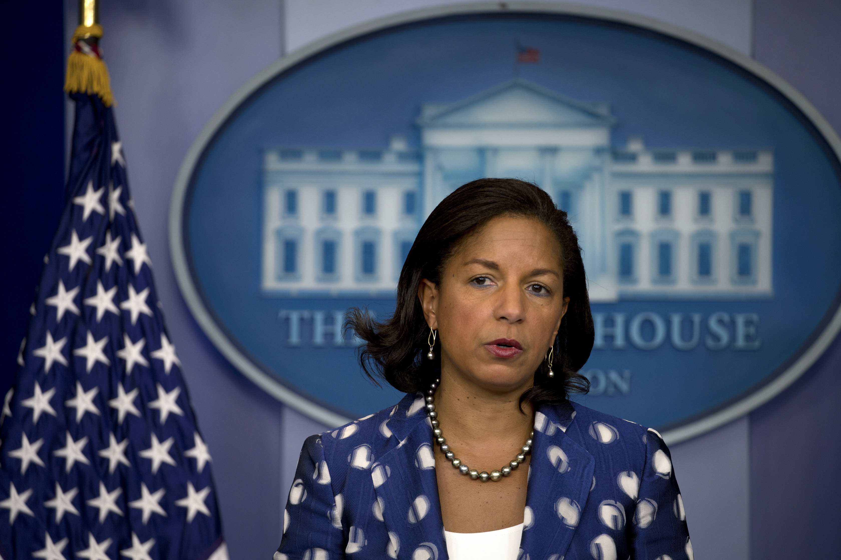 Former National Security Adviser Susan Rice, at the White House in Washington, July 22, 2015.(Stephen Crowley/The New York Times)