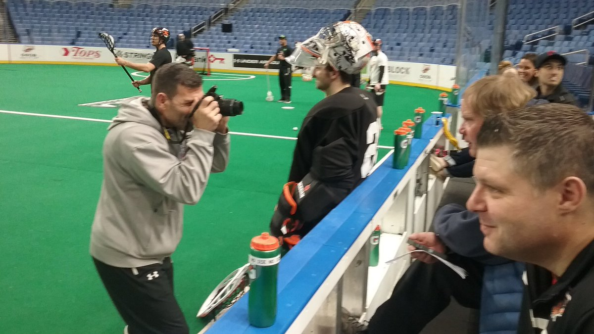 Bandits assistant coach John Tavares turned into a photographer during Saturday morning's workout at the KeyBank Center.