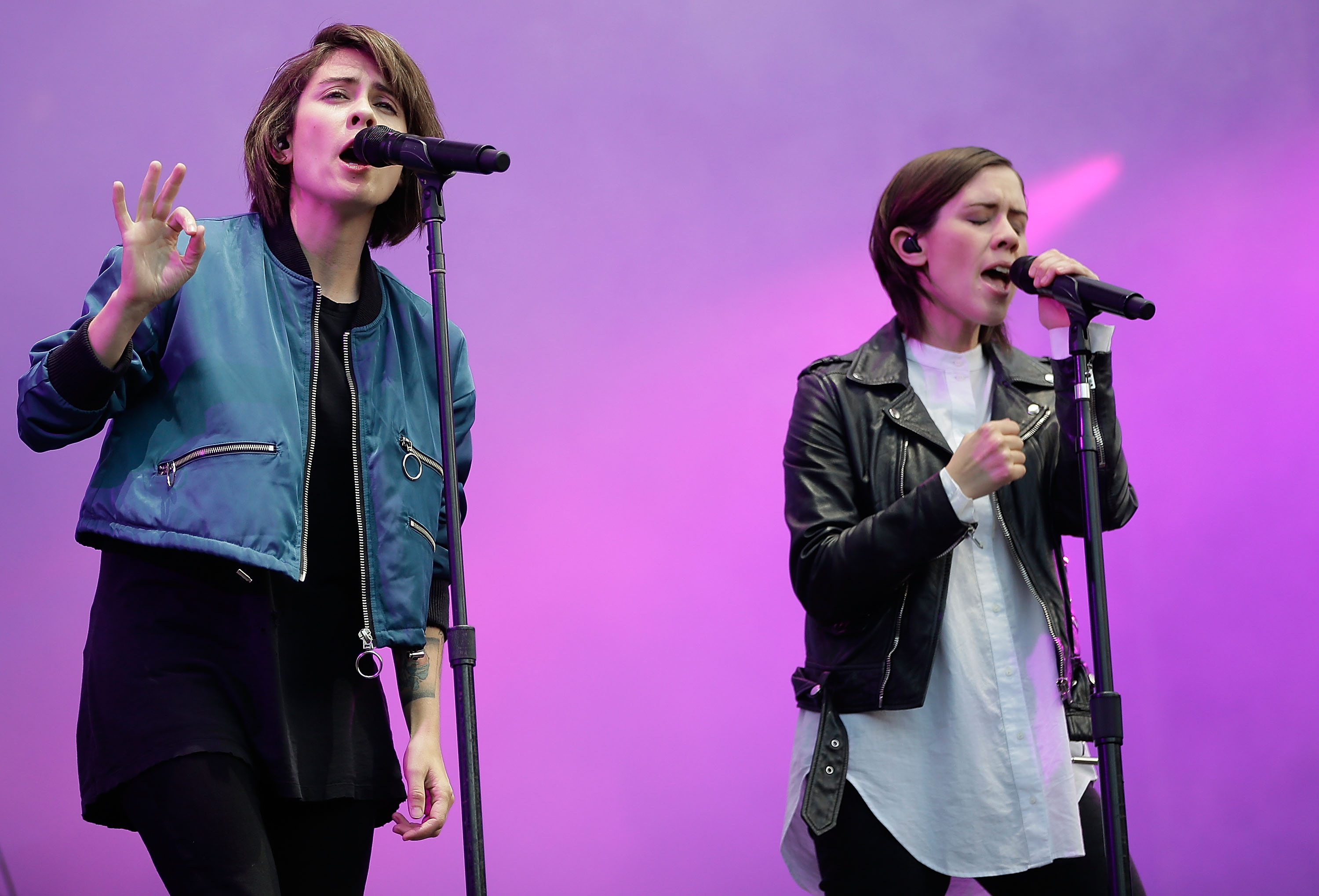 Tegan and Sara will be in concert at the Town Ballroom. (Getty Images)