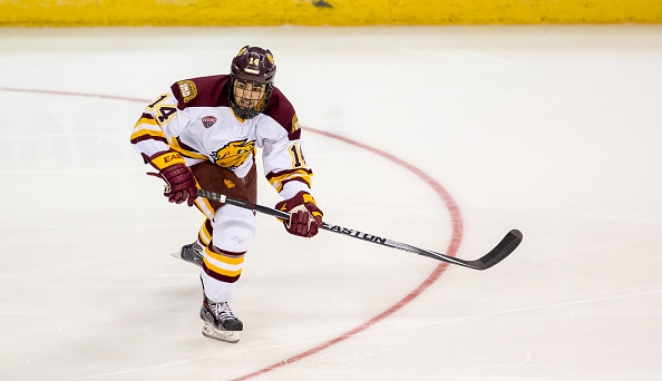 Alex Iafallo of Eden leads Minnesota Duluth in goals and points. (Getty Images)