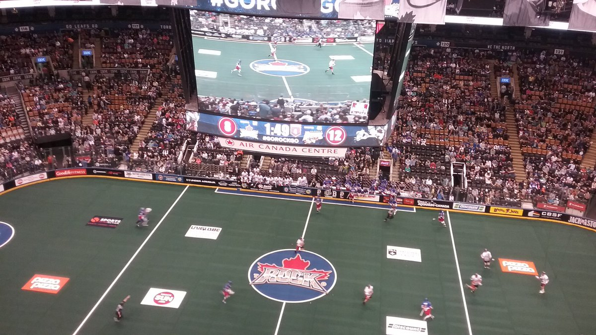 The scoreboard shows that the Bandits are about to earn an important win in Toronto.