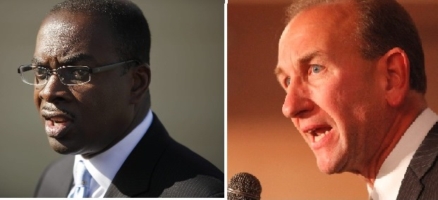 Mayor Byron Brown and Comptroller Mark Schroeder disagree about abortion but both oppose Congress' recent action to allow states to deny funds to Planned Parenthood. (News file photos)