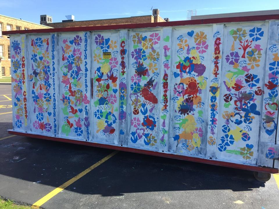 Dumpster art is featured for Earth Day event at Fashion Outlet Mall