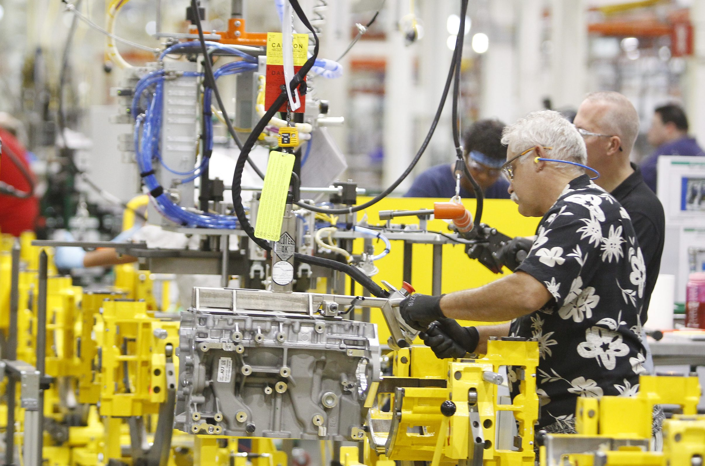 Local manufacturers say business improved again during August. (Mark Mulville /Buffalo News file photo)