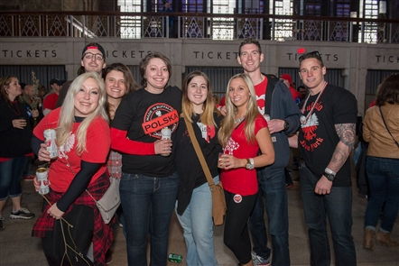 Smiles at Dyngus Day at the Central Terminal