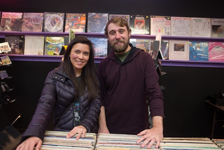 Smiles at Record Store Day at Record Theatre