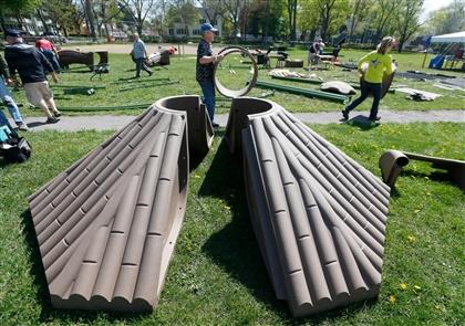 Building Hamburg Community Playground