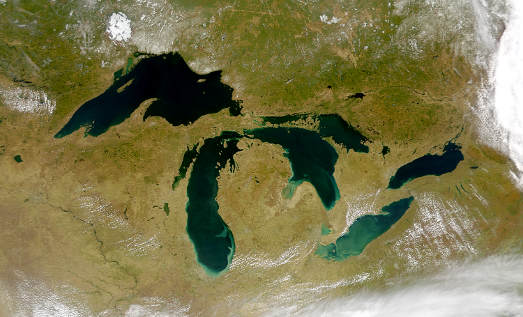 The Great Lakes. (NASA image)