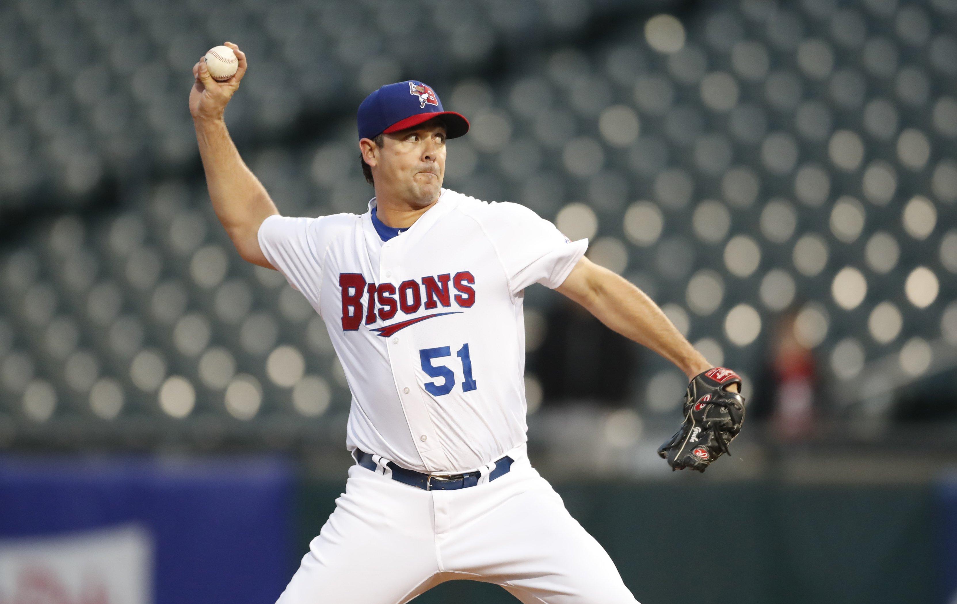 Bisons starter Jarrett Grube gave up eight runs, five earned, in four innings. (Harry Scull Jr./Buffalo News)