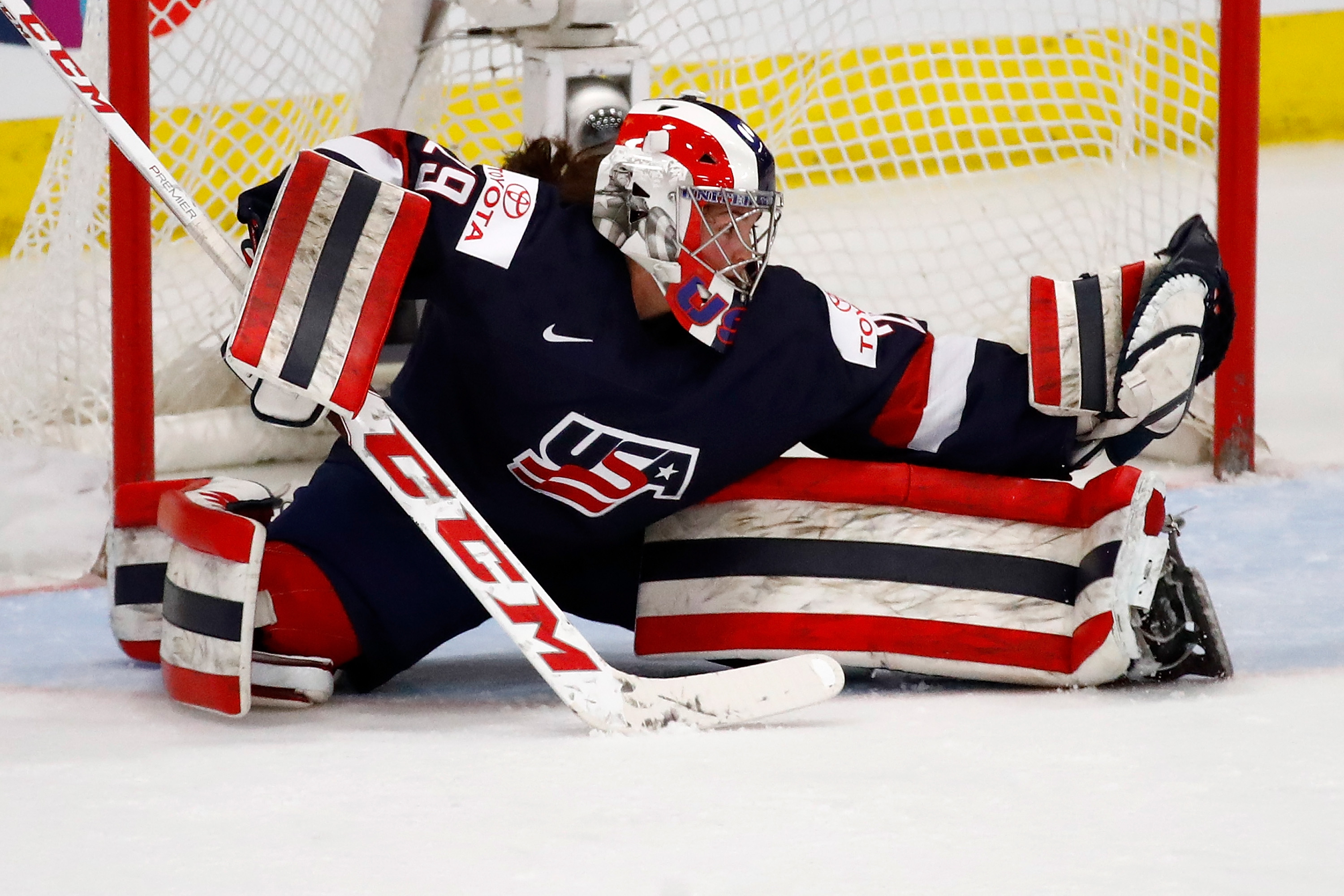 Nicole Hensley made several key saves for the U.S. in the second period. (Getty Images)