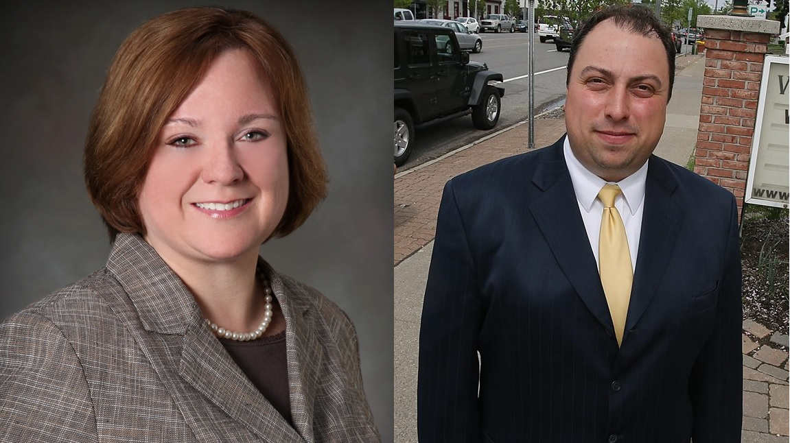 Amherst Town Clerk Marjory Jaeger, left, and Williamsville Mayor Brian J. Kulpa are expected to face each other in November's general election for town supervisor.