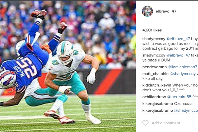 Bills-Dolphins rivalry stays hot as LeSean McCoy comes at Kiko Alonso in Instagram comments