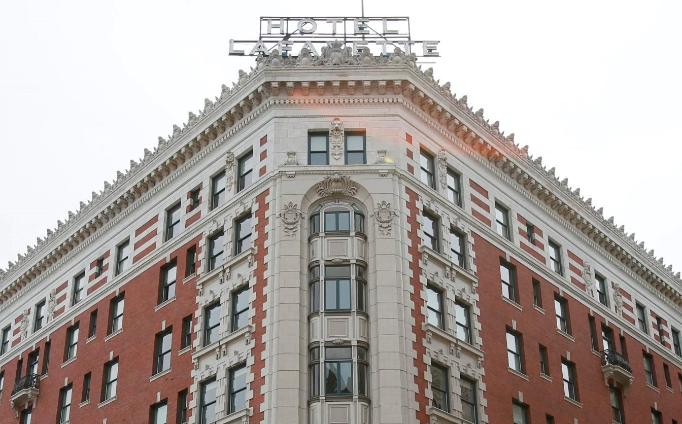 Hotel @ The Lafayette was renovated using federal historic preservation tax credits. (Derek Gee/Buffalo News)