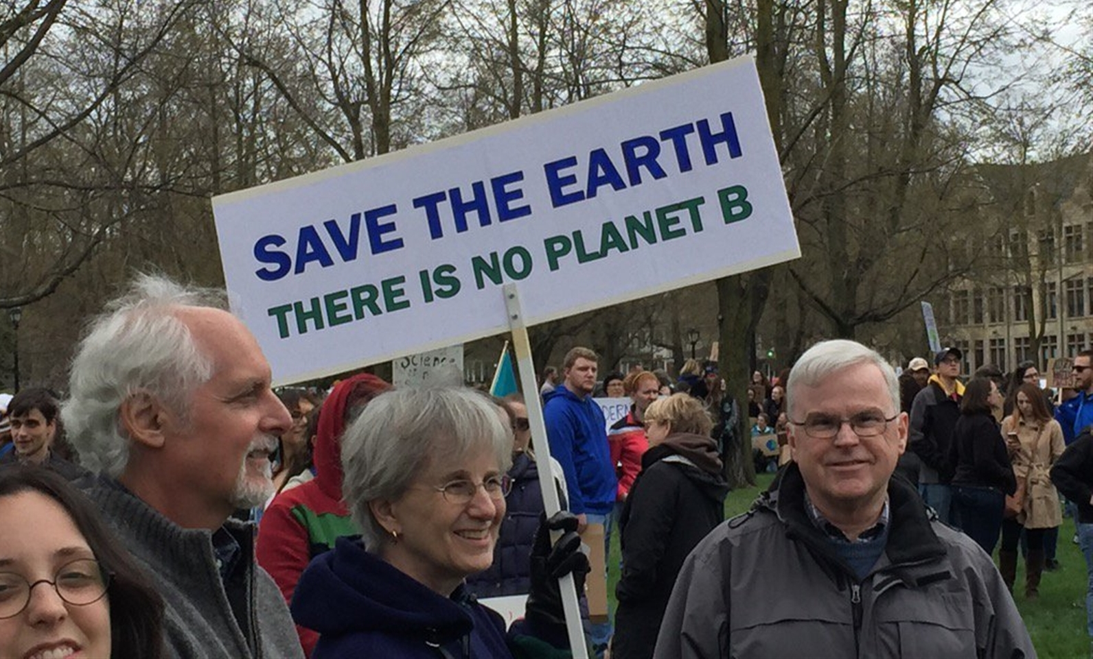 A couple thousand people joined the local March for Science on Saturday afternoon in Buffalo, many carrying creative signs. (Jay Rey/Buffalo News)