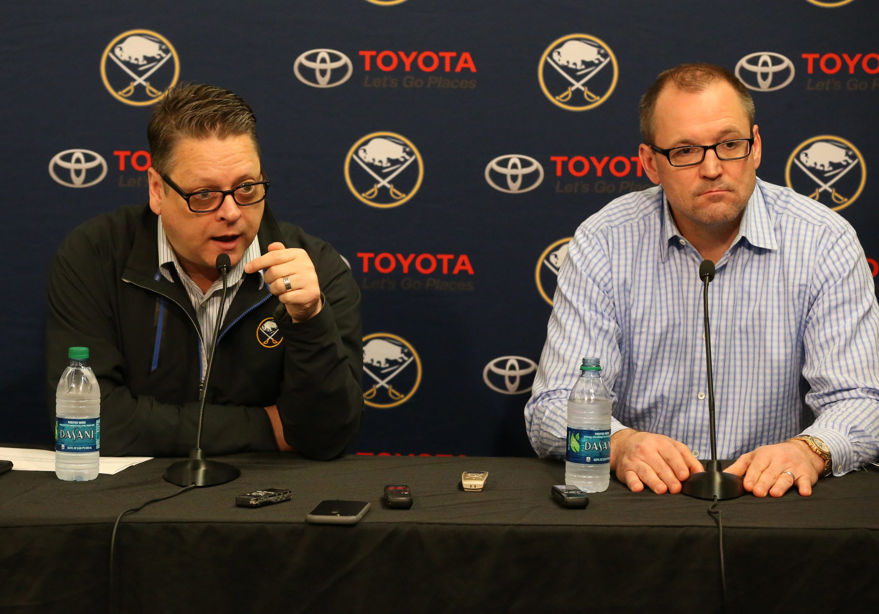 General Manager Tim Murray and coach Dan Bylsma have been fired. (News file photo)