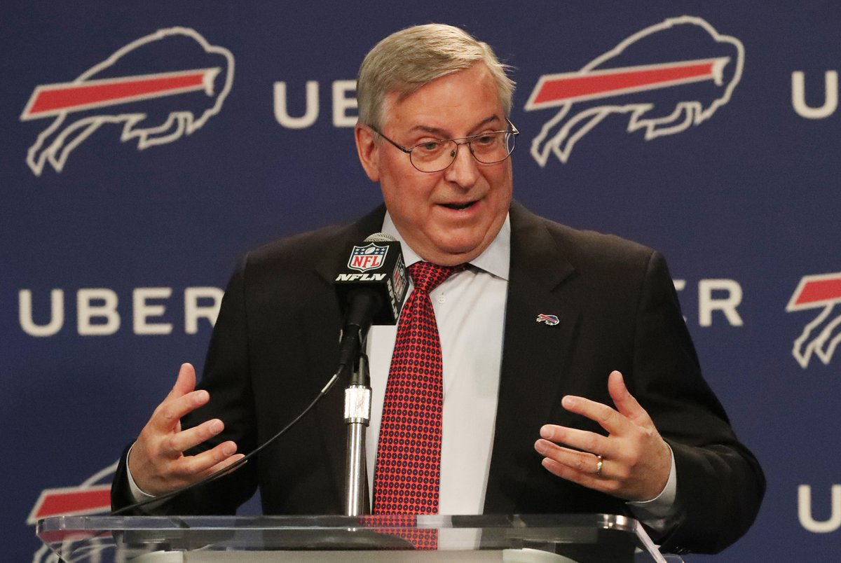 Bills owner Terry Pegula discusses the decision to fire General Manager Doug Whaley. (James P. McCoy/Buffalo News)