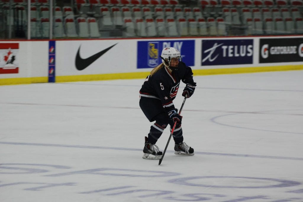 Emily Pfalzer and Team USA play Germany in the semifinals of the IIHF Women's World Championship on Thursday. (USA Hockey)