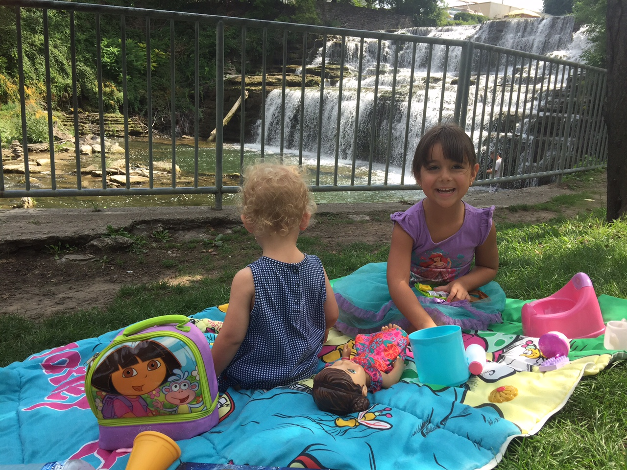 My kids love going on picnics. We always bring a few toys, books and dolls to help pass time. Mary Friona-Celani/Special to The News