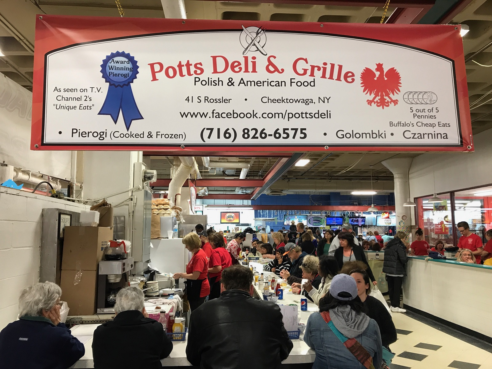 Potts Deli & Grille, inside the Broadway Market, relies on annual Easter customers. (Elizabeth Carey/Special to The News.)