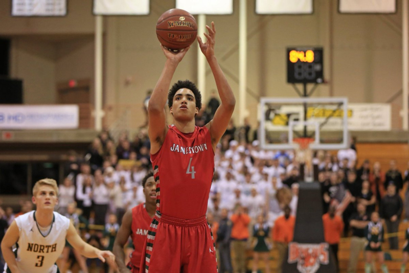 All-Western New York first-team selection James Rojas averaged a double-double as Jamestown's do-everything player. (Harry Scull Jr./Buffalo News)