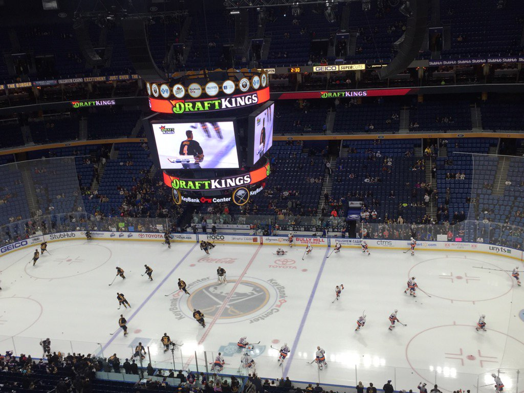 The Buffalo Sabres get ready to take on the New York Islanders.